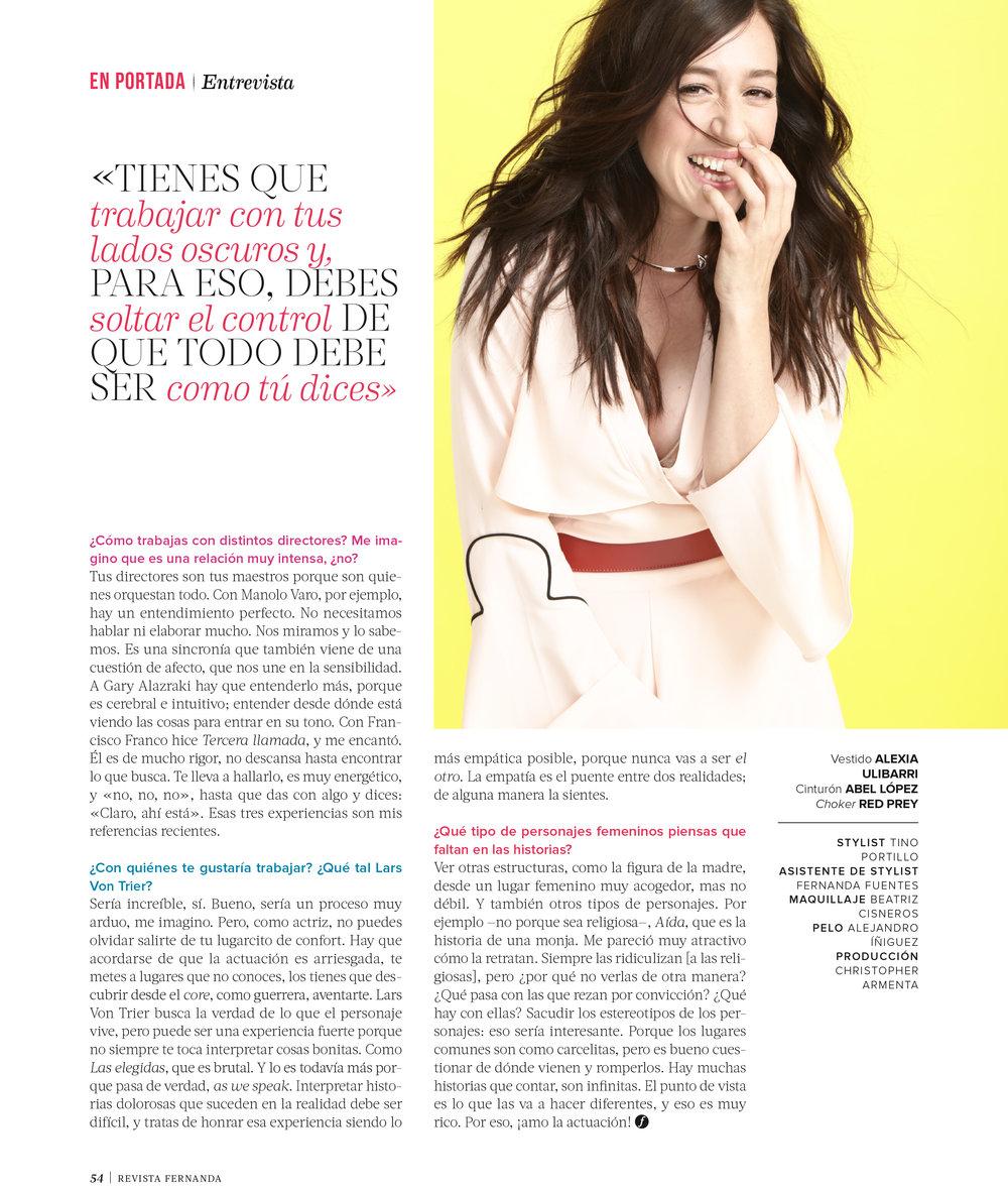 Mariana Treviño (Netfli'x Club de Cuervos) for Revista Fernanda 2017
