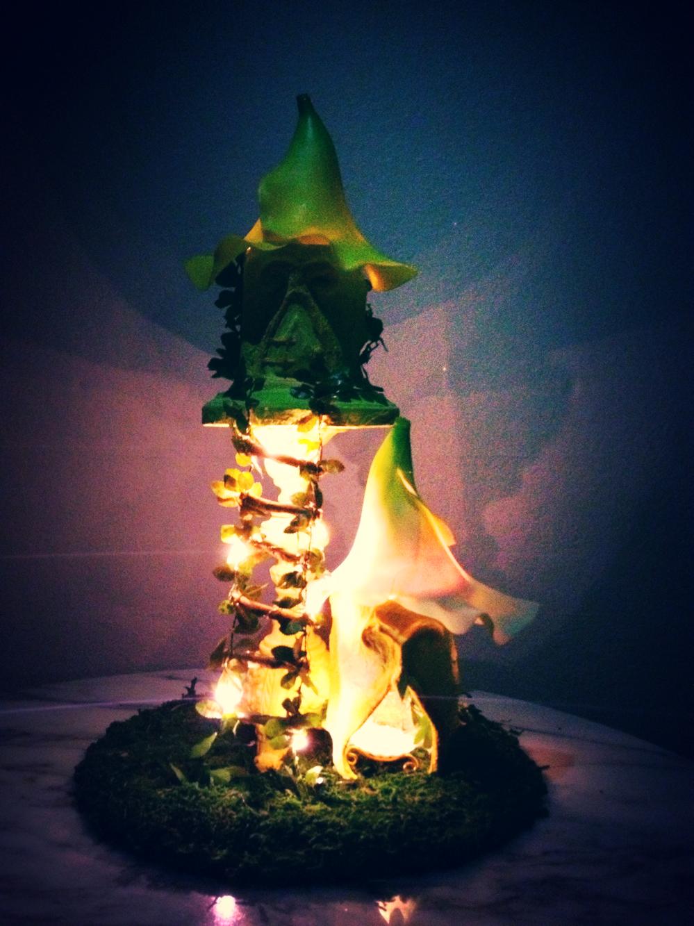 Floral flower fairy house nightlight handmade DIY