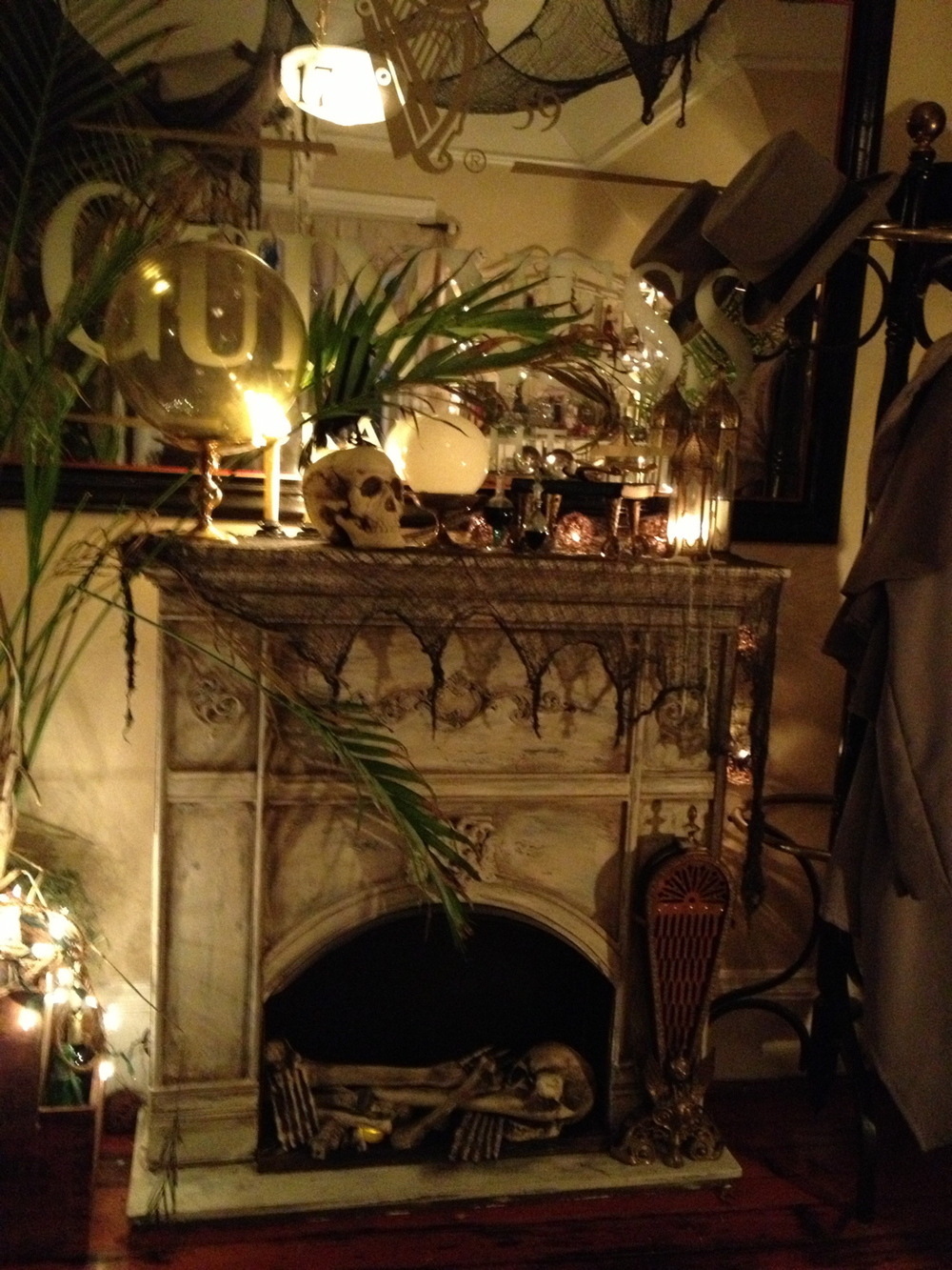 Who  wouldn't  want a fireplace of bones?