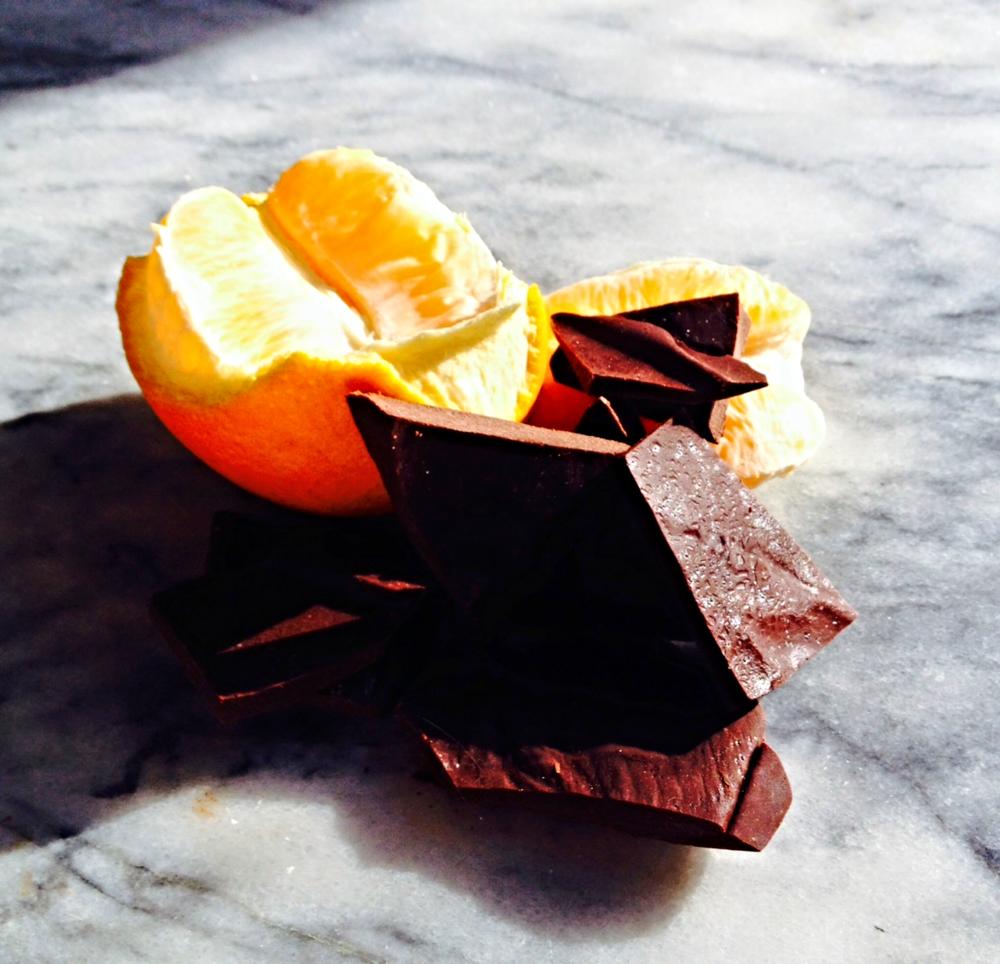 Dark chocolate and fresh orange, one of my favorite combos.