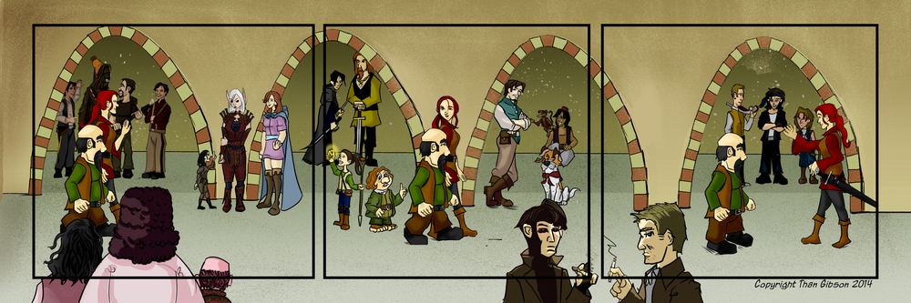 Name the 25 rogues in this image. (Chronicle characters only count once.)