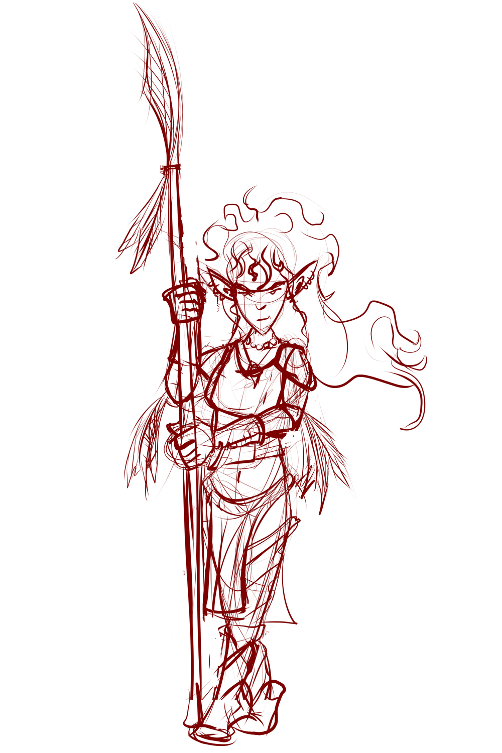 Elf Barbarian - Sketch