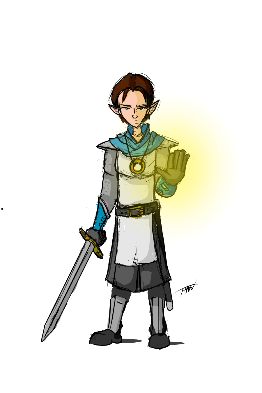 Half-elf Cleric