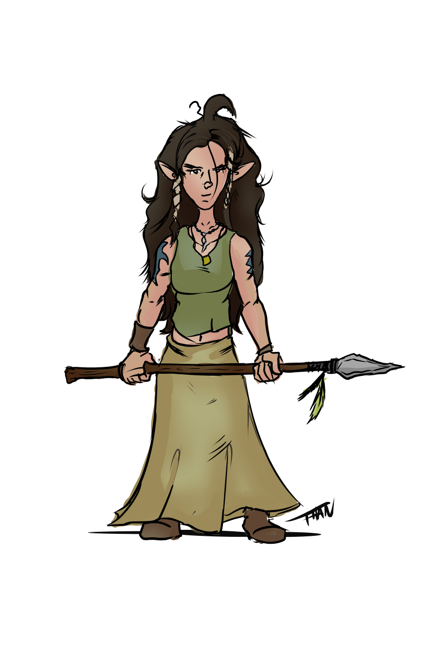 Half-elf Druid
