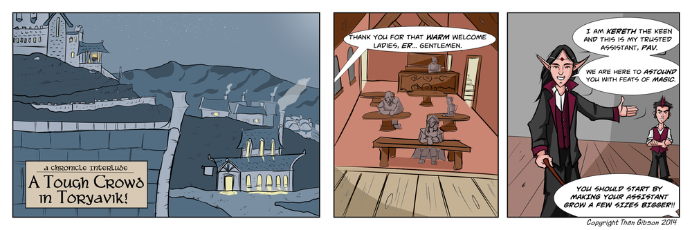 A Tough Crowd in Toryavik Strip 1 - Click the image for a larger view!
