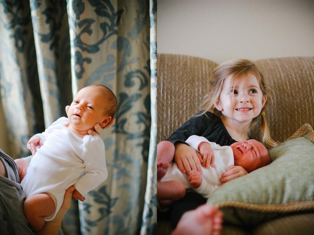 sibling and newborn in home; sisters.jpg