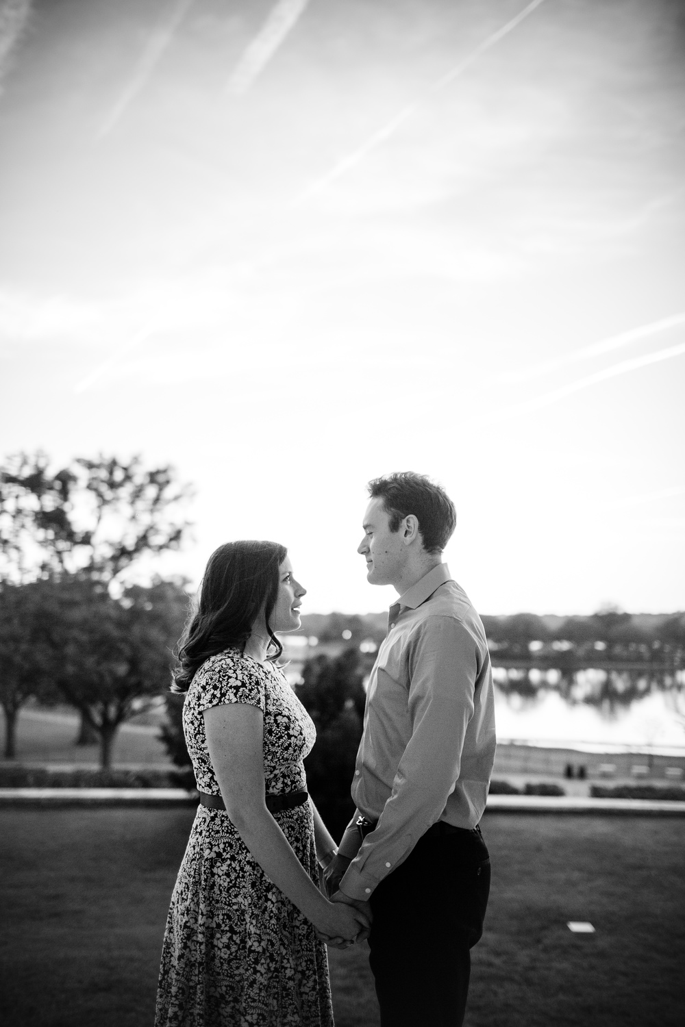 fall sunset engagement photographer washington dc