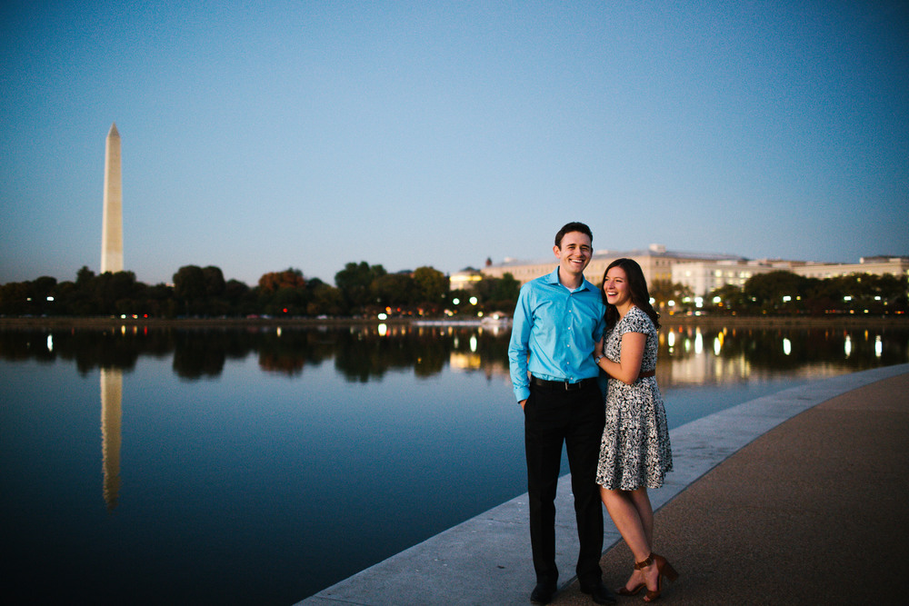 washington dc bride and groom engagement photos fall