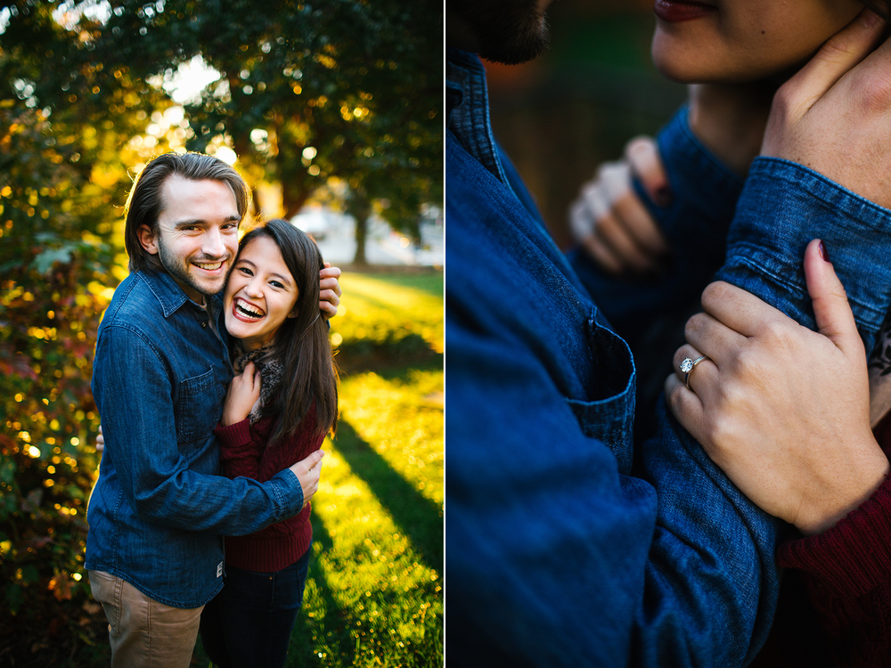 engagement photos sunrise washington dc fall national cathedral city couple.jpg