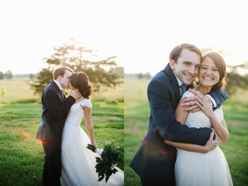 bride and groom sunset farm summer wedding portrait.jpg