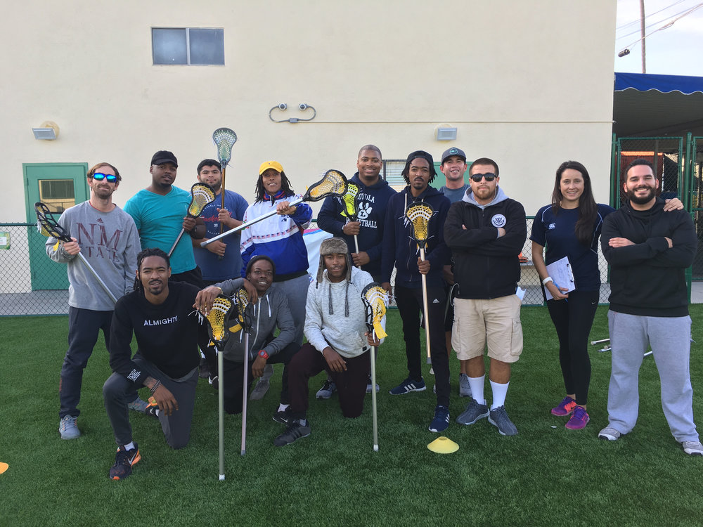 ICEF PE Teachers at a Harlem Lacrosse Curriculum Development Day in January