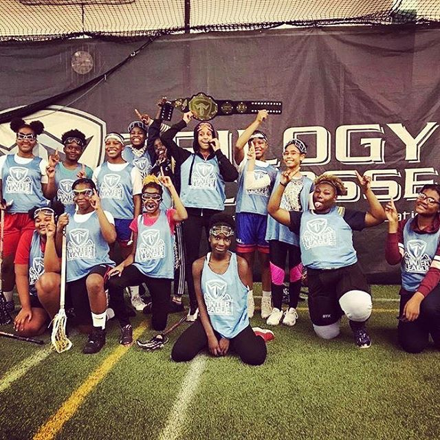 Congratulations to the Harlem Lacrosse Girls for winning the @trilogylacrosse Winter League 7th/8th Grade division! • HLers competed hard in the championship game in an 11-10 victory! Shoutout to our goalie, Destiny, for winning MVP honors! • A huge thanks to Trilogy for providing the opportunity to compete and get better over the last 10 weekends! On to the spring! • #mondaymotivation #getbetter #aimhigh