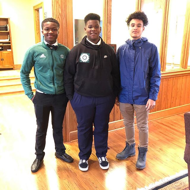Amazing to see HLers and @christschool boarding students Daquan (left) and Michael (right) during HLer Tidiane's tour and interview this afternoon in North Carolina! • Keep up the great work guys! • #aimhigh