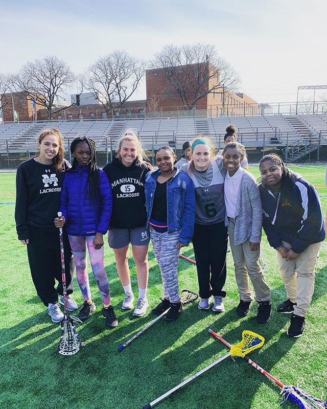 Last Wednesday, the P.S. 76 Girls traveled on the 1 train up to Gaelic Park to spend a spring break practice with @manhattanwlacrosse_ !! —————————————————————— HL Girls practiced with the players and experienced a day in the life of a Division 1 college student-athlete -- pizza party included! —————————————————————— Special thanks to Manhattan coaches Katie McConnell and Emily Considine for setting up such a great day for the HL girls!