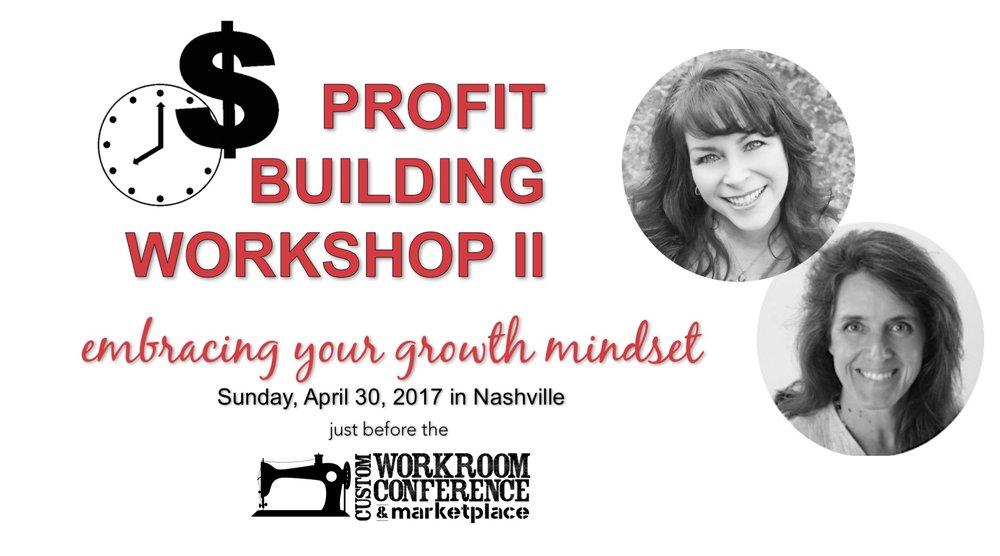 profit-building workshop business coach window treatments