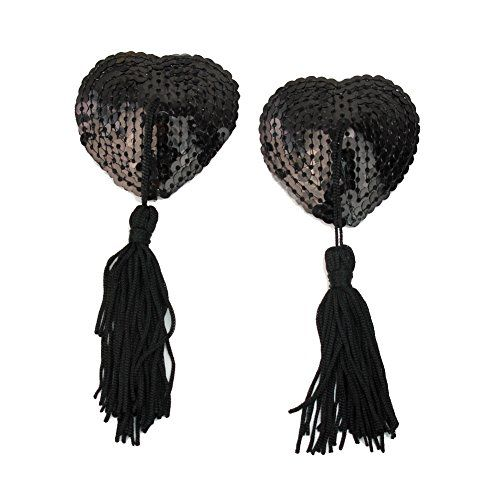 Sequin Heart Tassel Pasties