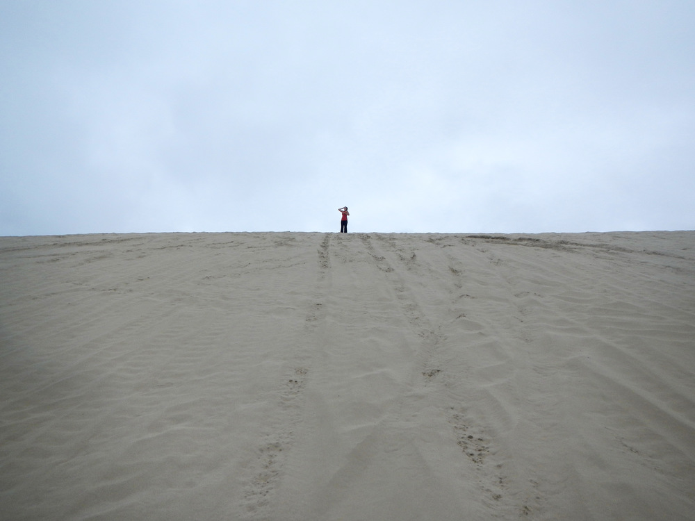 Top of the world! on a dune in Florence, Oregon