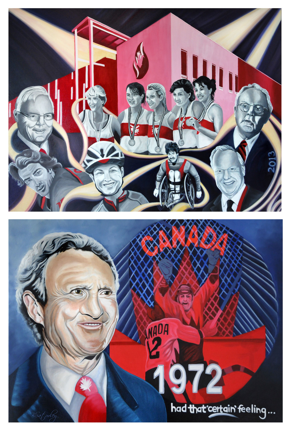 Paintings for Canada's Sports Hall of Fame 2013 Induction Ceremonies - by Brandy Saturley