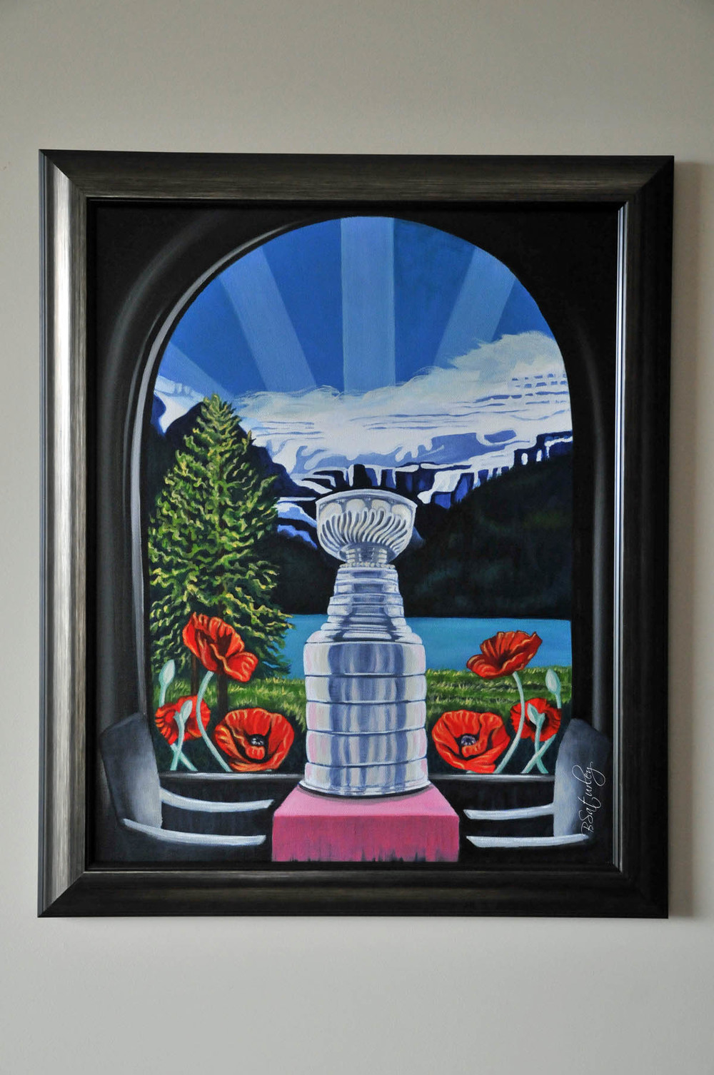 Stanley cup at Lake Louise by Brandy Saturley.