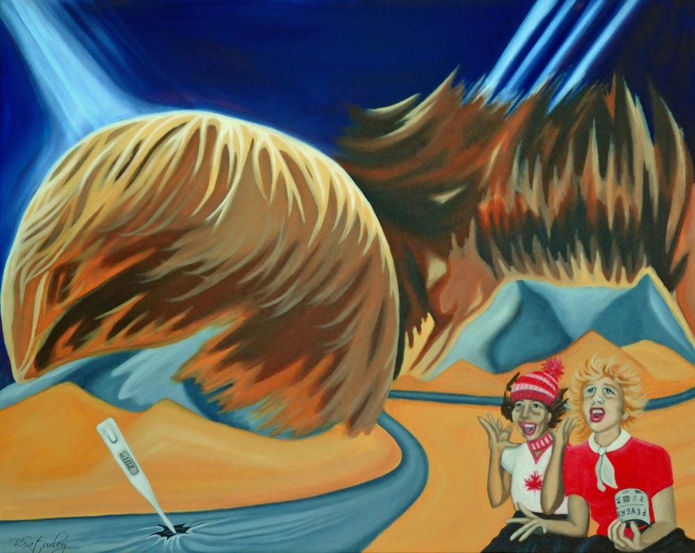 Just Bieber's hair as a landscape by Brandy Saturley