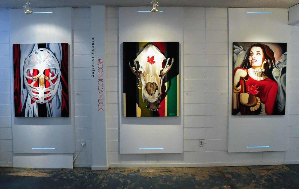 #ICONICCANUCK @ Visual Arts Alberta Gallery, Edmonton, AB CANADA