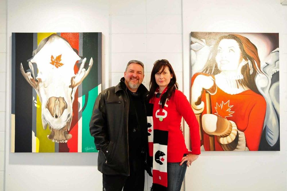 Artist Brandy Saturley with Robert G. Bain