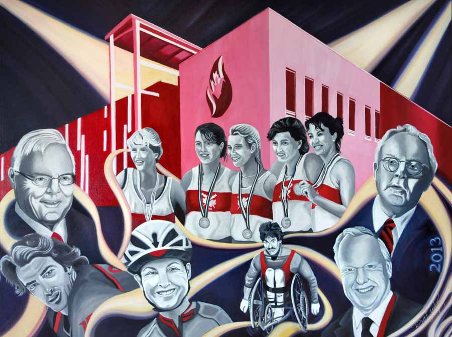 2013 Canada's Sports Hall of Fame Inductees - portrait by Brandy Saturley
