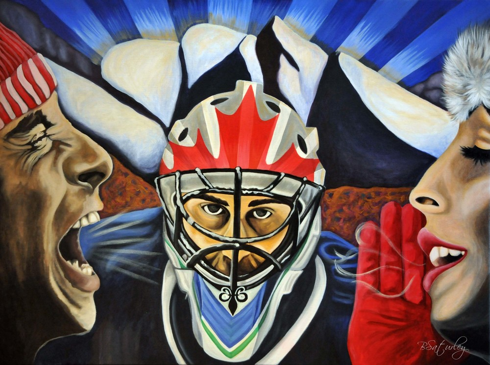 Doubt Before Glory - original acrylic on canvas by Canadian artist Brandy Saturley