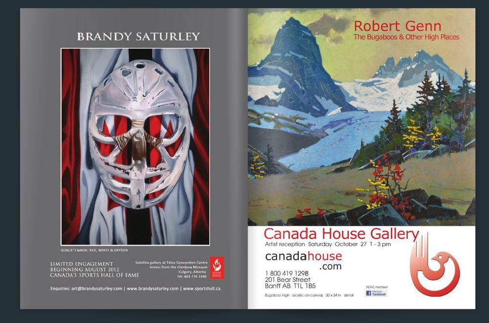 Galleries West Magazine - FALL 2012 | Goalie's Mask: red, white & Dryden, Brandy Saturley  - Bugaboos, Robert Genn