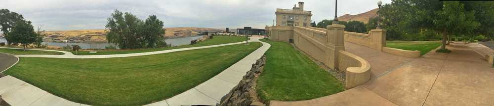 The stunning Maryhill Art Museum and grounds on the banks of the Columbia River.