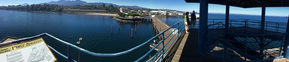 Port Angeles Pier and tower viewpoint.