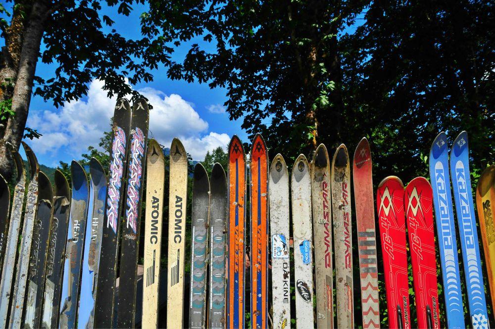 Ski hop fence @ Glacier.
