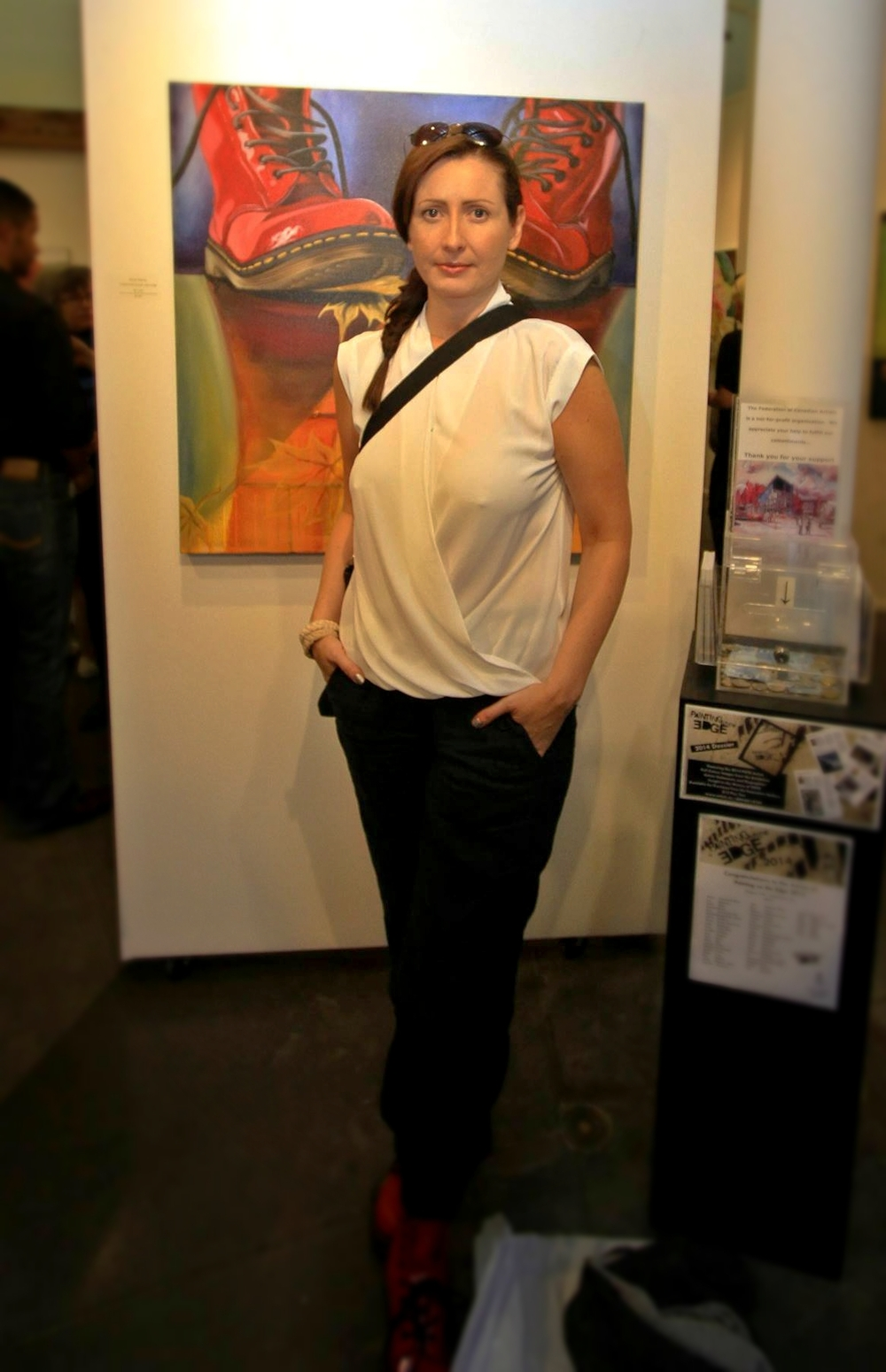 Brandy Saturley at Painting on the Edge 2014 - Federation Gallery, Granville Island, Vancouver BC, CANADA