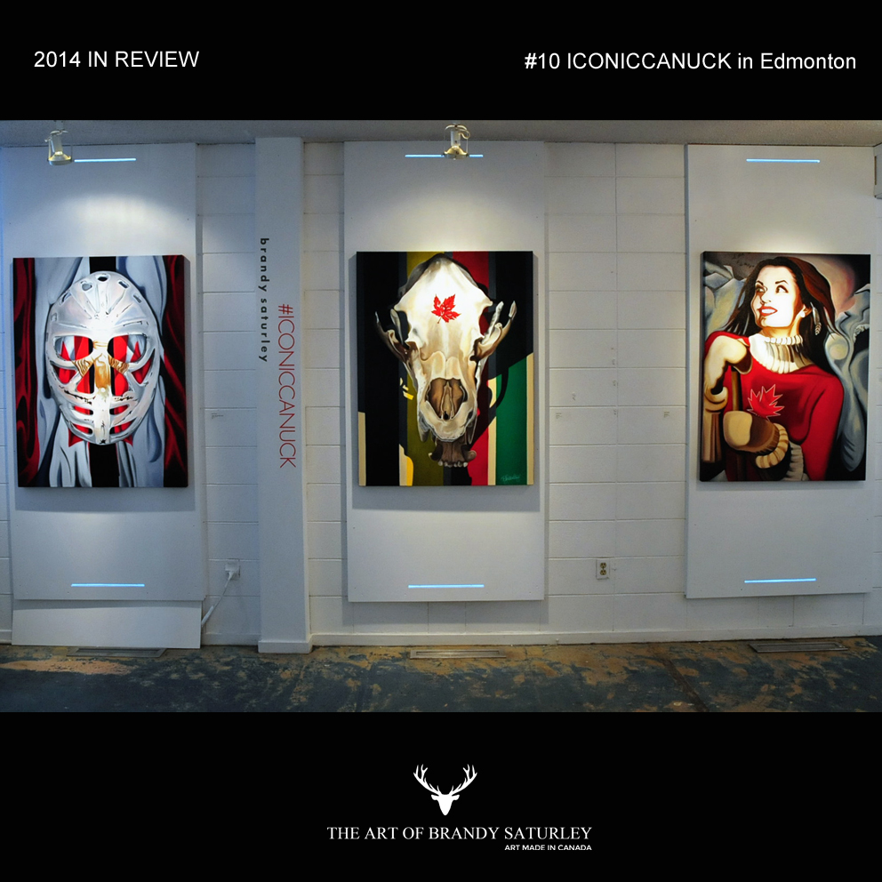 #10 - January marked the final weeks of#ICONICCANUCKin Edmonton, Alberta at VAAA Gallery A @ Harcourt House.