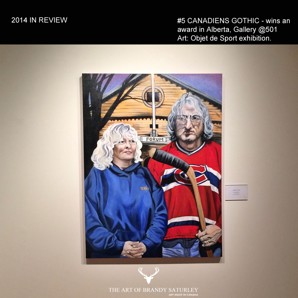 #5 'Canadiens Gothic' win's a People's Choice Award at Art: Objet de Sport, Gallery @501 - Sherwood Park, Alberta. This painting marked the inception of the People of Canada Portrait Project. Thank you againPenny Rogers Photography & Writingfor the reference photo and inspiration.#GoHabsGo
