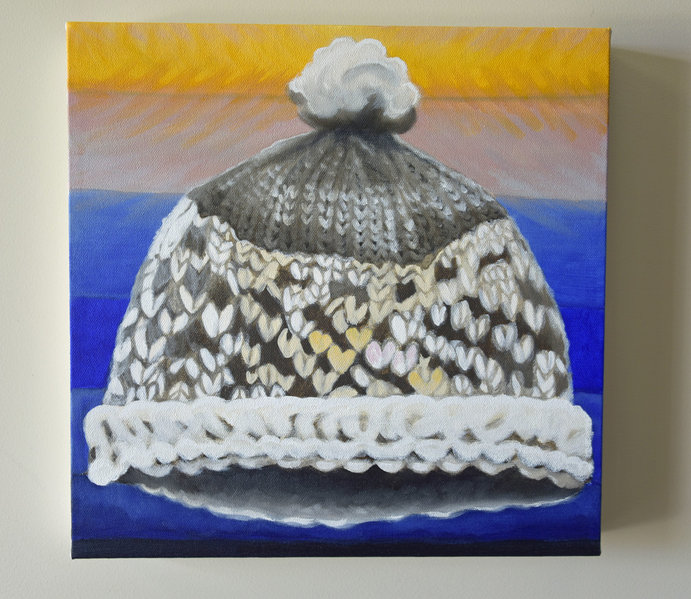 Toque Rise - 12x12 - acrylic on canvas - part of 'The 99' Canada in the Details - 2015 Brandy Saturley