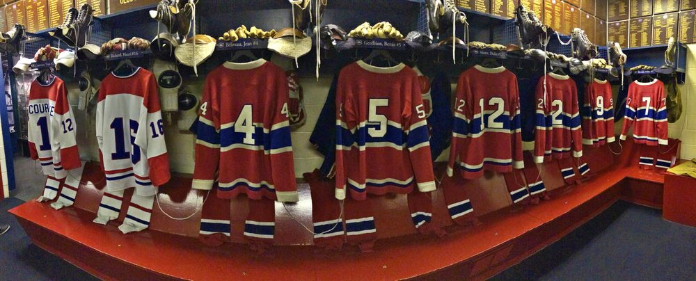 Honuring 'The Habs' legcay - locker room at Hockey Hall of Fame