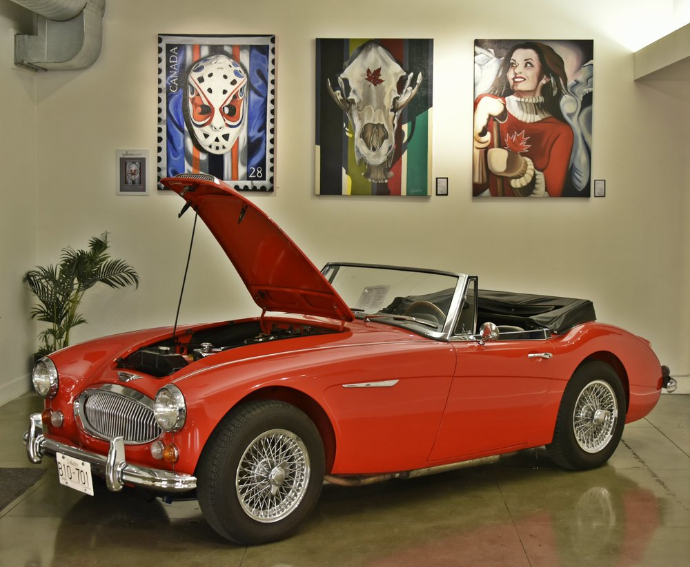 Automobile: Austin Healey 3000 Mk III 1965  Art: #ICONICCANUCK body of work by Brandy Saturley