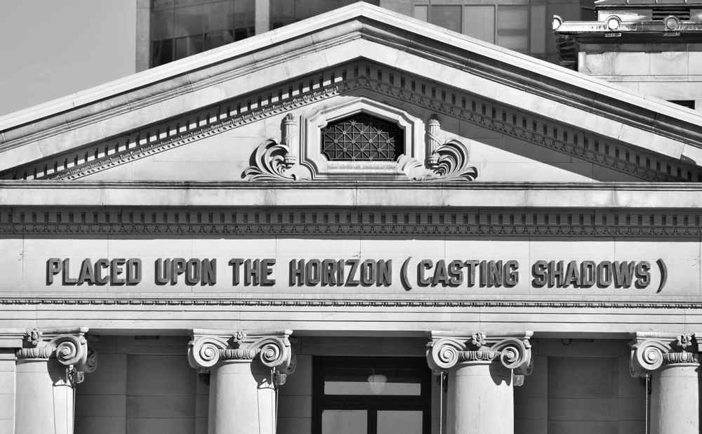 Placed Upon The Horizon (Casting Shadows) - Vancouver Art Gallery (VAG) - artist Lawrence Weiner