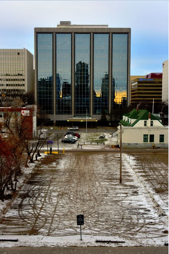 View from an Edmonton Hotel in November