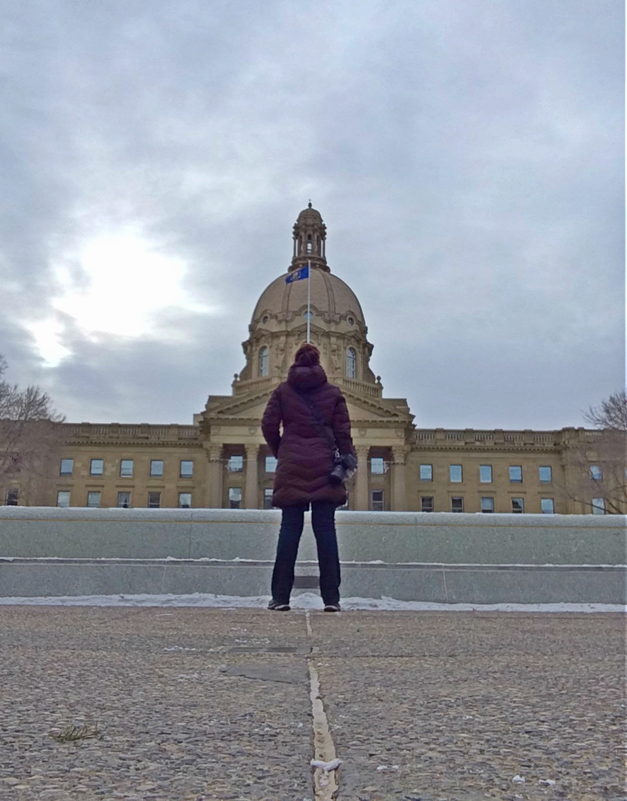 Selfie at the Alberta Legislature - Brandy Saturley