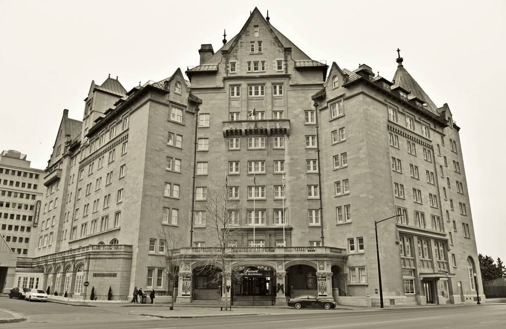The Hotel MacDonald - B&W photo by Brandy Saturley, 2015