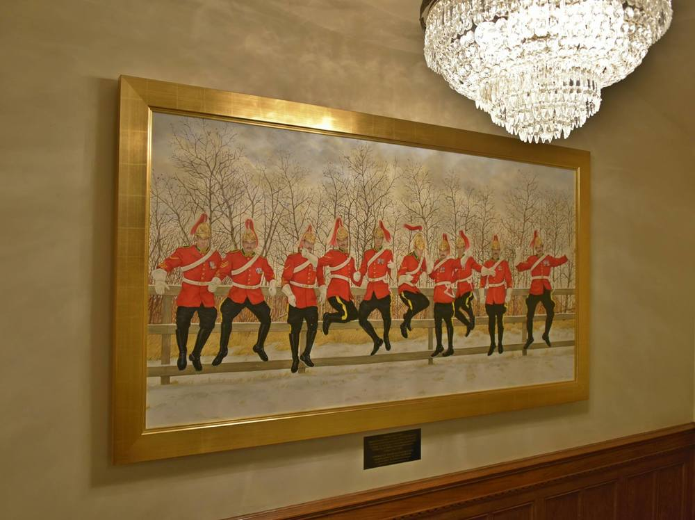 10 Lords A Leaping - painting at the Fairmont Hotel MacDonald, Edmonton Alberta