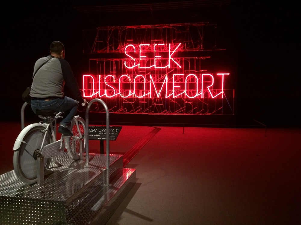 The Happy Show at  Museum of Vancouver - art installation by Stefan Sagmeister, photo Brandy Saturley