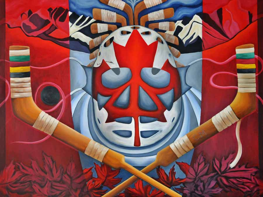 On Guard, 2013 - Brandy Saturley - a composition based on the Canadian flag. Colart Collection.