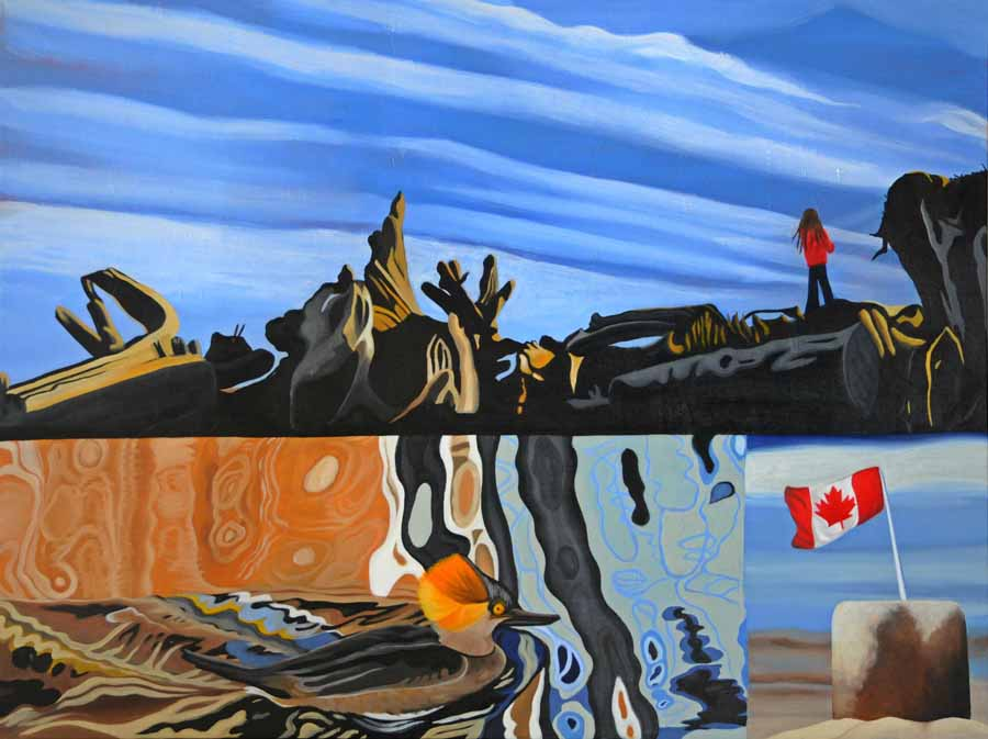 Westcoast Afternoon, 2010 - Brandy Saturley - a composition based on the Canadian flag.