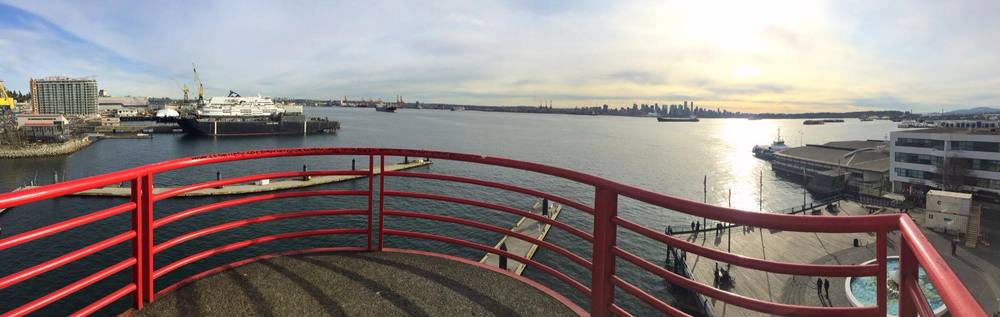 The View from the lookout at Lonsdale Quay, North Vancouver. Photo: Brandy Saturley, iPhone
