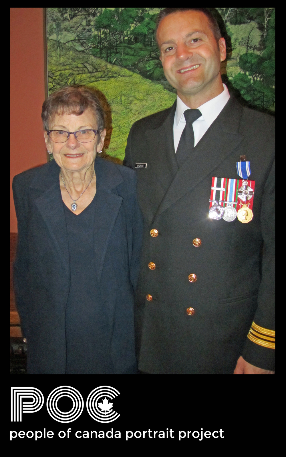 Aaron Gyorkos and mother Alice at Rideau Hall