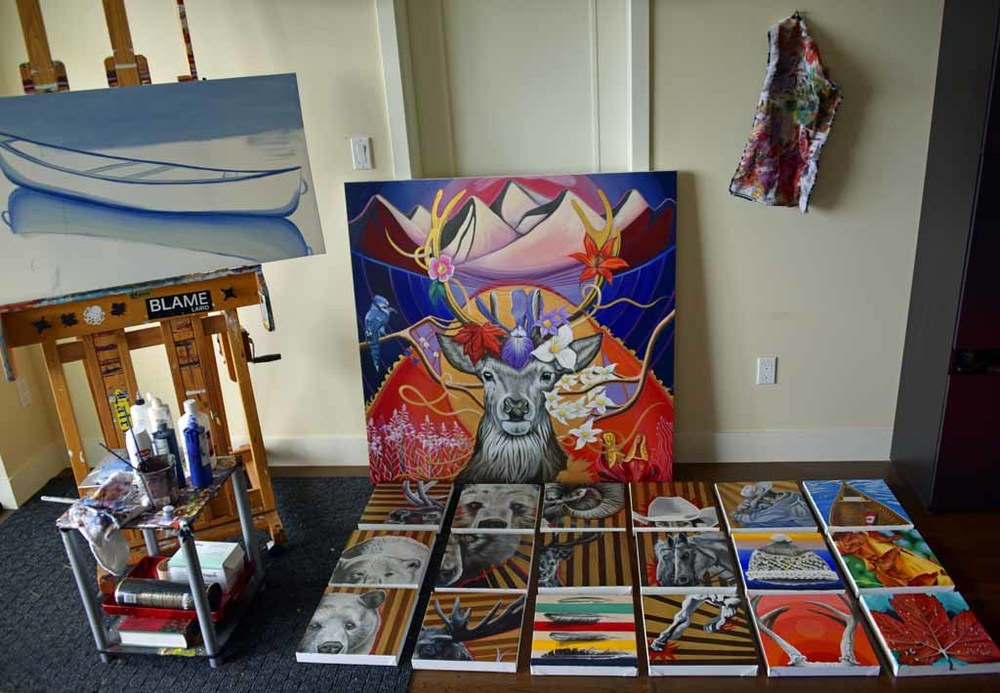 Inside the art studio of Victoria artist, Brandy Saturley