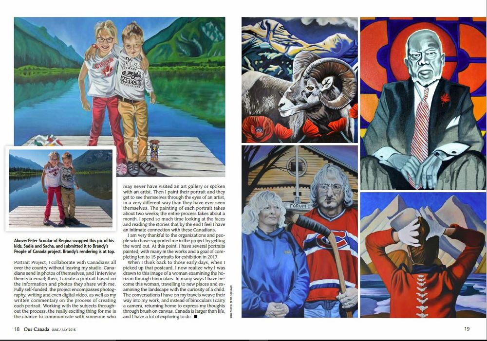 Our Canada Magazine - Showcase Feature Canadian Artist Brandy Saturley